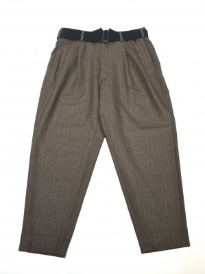 <img class='new_mark_img1' src='//img.shop-pro.jp/img/new/icons14.gif' style='border:none;display:inline;margin:0px;padding:0px;width:auto;' />JieDa 2TUCK TAPERED WOOL PANTS (BEI)
