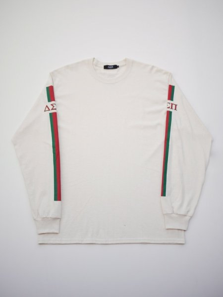 Diaspora skateboards STRIPES L/S TEE (NAT)