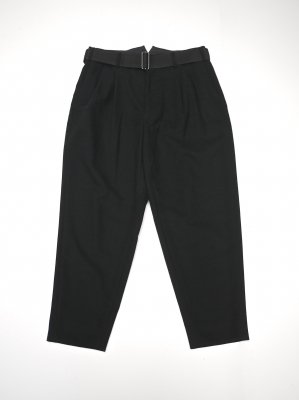 <img class='new_mark_img1' src='//img.shop-pro.jp/img/new/icons14.gif' style='border:none;display:inline;margin:0px;padding:0px;width:auto;' />JieDa 2TUCK TAPERED KERSEY PANTS (BLK)