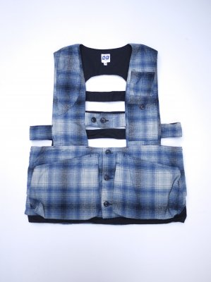 <img class='new_mark_img1' src='//img.shop-pro.jp/img/new/icons14.gif' style='border:none;display:inline;margin:0px;padding:0px;width:auto;' />AiE GAME VEST SHADOW PLAID (BLU)