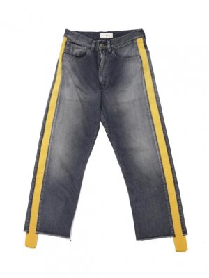 <img class='new_mark_img1' src='//img.shop-pro.jp/img/new/icons14.gif' style='border:none;display:inline;margin:0px;padding:0px;width:auto;' />JieDa SIDE LINE DENIM PANTS (BLK)
