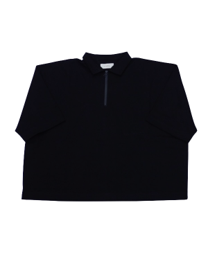 <img class='new_mark_img1' src='//img.shop-pro.jp/img/new/icons14.gif' style='border:none;display:inline;margin:0px;padding:0px;width:auto;' />JieDa ZIP POLO SHIRT (BLK)