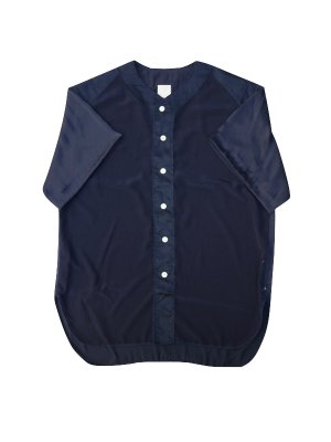 <img class='new_mark_img1' src='//img.shop-pro.jp/img/new/icons14.gif' style='border:none;display:inline;margin:0px;padding:0px;width:auto;' />YSTRDY'S TMRRW SATIN PLAYBALL SHIRT (NAV)