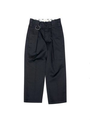 <img class='new_mark_img1' src='//img.shop-pro.jp/img/new/icons47.gif' style='border:none;display:inline;margin:0px;padding:0px;width:auto;' />JieDa × Dickies REMAKE TUCK SLACKS (BLK)