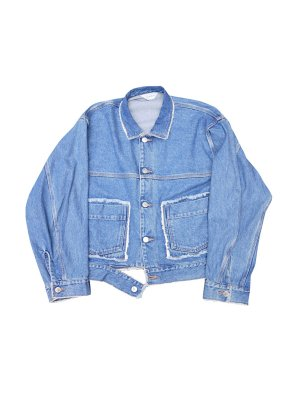 <img class='new_mark_img1' src='//img.shop-pro.jp/img/new/icons14.gif' style='border:none;display:inline;margin:0px;padding:0px;width:auto;' />JieDa DENIM SHORT JACKET USED (IND)
