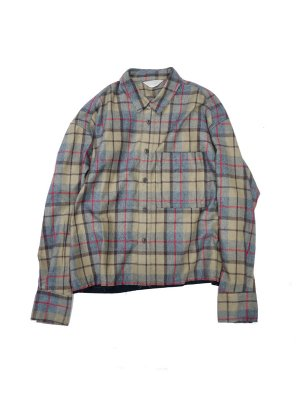 <img class='new_mark_img1' src='//img.shop-pro.jp/img/new/icons14.gif' style='border:none;display:inline;margin:0px;padding:0px;width:auto;' />JieDa CUT OFF FLANNEL SHIRT (BEI)