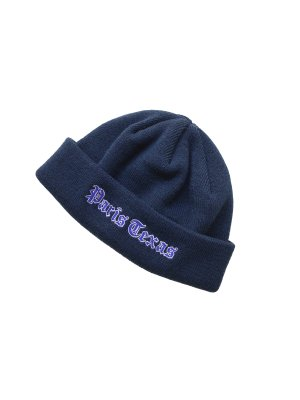<img class='new_mark_img1' src='//img.shop-pro.jp/img/new/icons16.gif' style='border:none;display:inline;margin:0px;padding:0px;width:auto;' />[40%OFF] JieDa EMBROIDERY KNIT CAP (NAV)