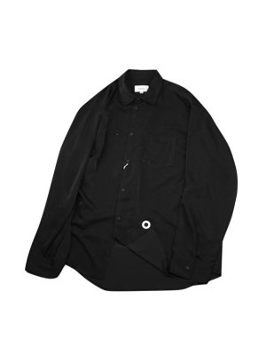 <img class='new_mark_img1' src='//img.shop-pro.jp/img/new/icons14.gif' style='border:none;display:inline;margin:0px;padding:0px;width:auto;' />kudos POCKET ON POCKET SHIRT (BLK)