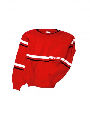 <img class='new_mark_img1' src='//img.shop-pro.jp/img/new/icons14.gif' style='border:none;display:inline;margin:0px;padding:0px;width:auto;' />CMMN SWDN TOMEK - OVERSIZED  KNITED SWEATER (RED)