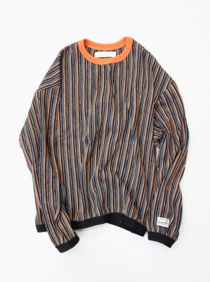 <img class='new_mark_img1' src='//img.shop-pro.jp/img/new/icons14.gif' style='border:none;display:inline;margin:0px;padding:0px;width:auto;' />R.M GANG RIPPLE STRIPE CREW NECK SWEAT (ORA)