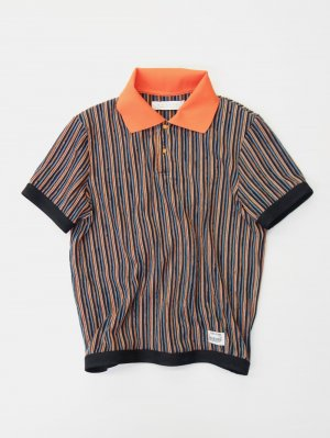 <img class='new_mark_img1' src='//img.shop-pro.jp/img/new/icons14.gif' style='border:none;display:inline;margin:0px;padding:0px;width:auto;' />R.M GANG RIPPLE STRIPE POLO  (ORA)