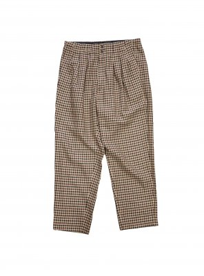 <img class='new_mark_img1' src='//img.shop-pro.jp/img/new/icons14.gif' style='border:none;display:inline;margin:0px;padding:0px;width:auto;' />JieDa  GINGHAM 3TUCK SLACKS (BEI)