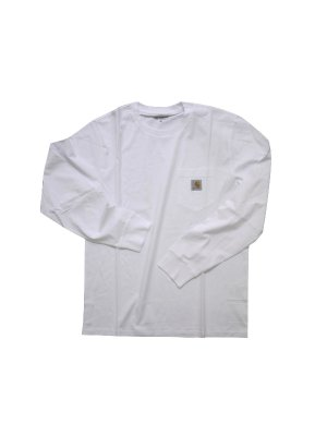 <img class='new_mark_img1' src='https://img.shop-pro.jp/img/new/icons14.gif' style='border:none;display:inline;margin:0px;padding:0px;width:auto;' />Carhartt L/S POCKET T-SHIRT (WHT)