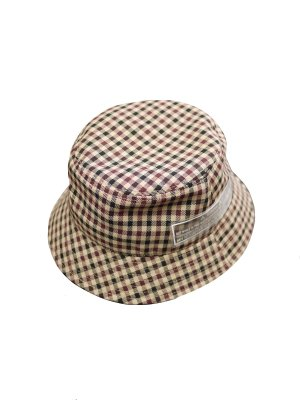 <img class='new_mark_img1' src='//img.shop-pro.jp/img/new/icons14.gif' style='border:none;display:inline;margin:0px;padding:0px;width:auto;' />JieDa GINGHAM BUCKET HAT (BEI)