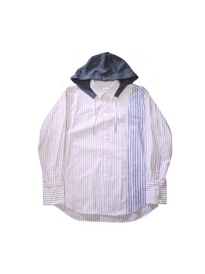 <img class='new_mark_img1' src='//img.shop-pro.jp/img/new/icons16.gif' style='border:none;display:inline;margin:0px;padding:0px;width:auto;' />[40%OFF] kudos HOODIE STRIPE SHIRT
