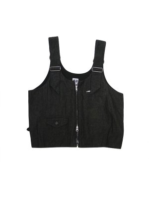 <img class='new_mark_img1' src='//img.shop-pro.jp/img/new/icons14.gif' style='border:none;display:inline;margin:0px;padding:0px;width:auto;' />AiE DSD VEST - 8oz WASHED DENIM