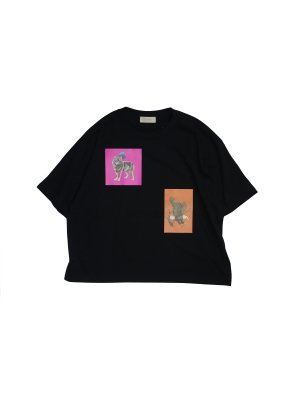<img class='new_mark_img1' src='//img.shop-pro.jp/img/new/icons14.gif' style='border:none;display:inline;margin:0px;padding:0px;width:auto;' />JieDa ANIMAL T-SHIRT (BLK)