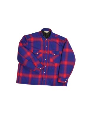 <img class='new_mark_img1' src='https://img.shop-pro.jp/img/new/icons16.gif' style='border:none;display:inline;margin:0px;padding:0px;width:auto;' />[50%OFF] JieDa OMBRE PLAID PADDING SHIRT (RED)
