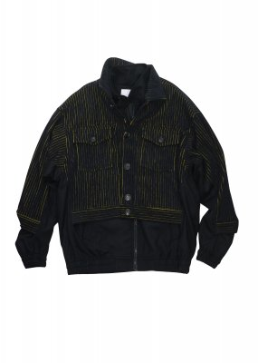 <img class='new_mark_img1' src='//img.shop-pro.jp/img/new/icons14.gif' style='border:none;display:inline;margin:0px;padding:0px;width:auto;' />KANIZSA ZIP-UP JACKET (BLK)