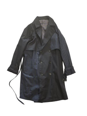 <img class='new_mark_img1' src='//img.shop-pro.jp/img/new/icons14.gif' style='border:none;display:inline;margin:0px;padding:0px;width:auto;' />JieDa SWITCHING TRENCH COAT (BLK)