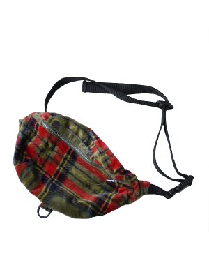 <img class='new_mark_img1' src='https://img.shop-pro.jp/img/new/icons16.gif' style='border:none;display:inline;margin:0px;padding:0px;width:auto;' />[40%OFF] AiE WAIST POUCH - PLAID VELVETEEN (GRN)
