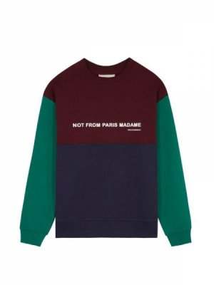 <img class='new_mark_img1' src='//img.shop-pro.jp/img/new/icons14.gif' style='border:none;display:inline;margin:0px;padding:0px;width:auto;' />DROLE DE MONSIEUR   Paneled Slogan Sweatshirt (#B)