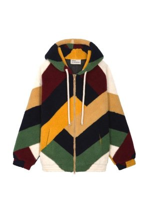 <img class='new_mark_img1' src='//img.shop-pro.jp/img/new/icons14.gif' style='border:none;display:inline;margin:0px;padding:0px;width:auto;' />DROLE DE MONSIEUR       Oversize Graphic Sherpa Coat