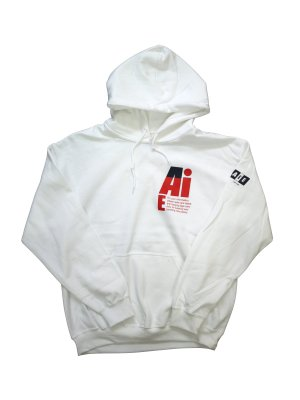 <img class='new_mark_img1' src='https://img.shop-pro.jp/img/new/icons16.gif' style='border:none;display:inline;margin:0px;padding:0px;width:auto;' />[40%OFF] AiE PRINTED HOODY-SMALL AiE LOGO (WHT)