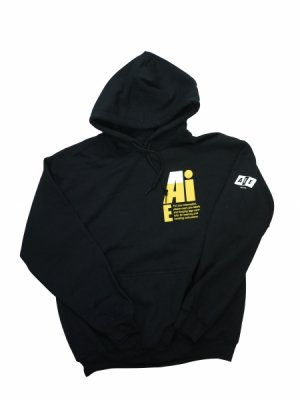 <img class='new_mark_img1' src='//img.shop-pro.jp/img/new/icons14.gif' style='border:none;display:inline;margin:0px;padding:0px;width:auto;' />AiE PRINTED HOODY-SMALL AiE LOGO (BLK)