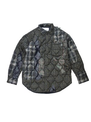 <img class='new_mark_img1' src='//img.shop-pro.jp/img/new/icons14.gif' style='border:none;display:inline;margin:0px;padding:0px;width:auto;' />CMMN SWDN QHRIS - QUILTED OVERSHIRT WITH A LIGHTWE