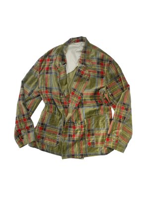 <img class='new_mark_img1' src='//img.shop-pro.jp/img/new/icons14.gif' style='border:none;display:inline;margin:0px;padding:0px;width:auto;' />AiE EZ JACKET - PLAID VELVETEEN (GRN)