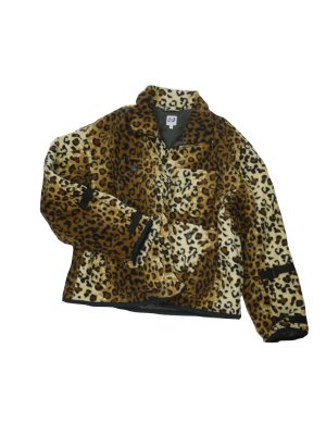 <img class='new_mark_img1' src='//img.shop-pro.jp/img/new/icons14.gif' style='border:none;display:inline;margin:0px;padding:0px;width:auto;' />AiE DOC JACKET - LEOPARD FLEECE