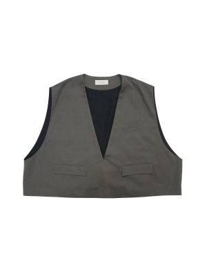 <img class='new_mark_img1' src='//img.shop-pro.jp/img/new/icons14.gif' style='border:none;display:inline;margin:0px;padding:0px;width:auto;' />JieDa OPEN NECK SHORT VEST (C/G)