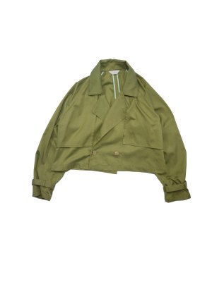 <img class='new_mark_img1' src='https://img.shop-pro.jp/img/new/icons16.gif' style='border:none;display:inline;margin:0px;padding:0px;width:auto;' />[40%OFF] JieDa SHORT TRENCH JACKET (YEL)