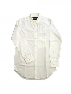 <img class='new_mark_img1' src='//img.shop-pro.jp/img/new/icons14.gif' style='border:none;display:inline;margin:0px;padding:0px;width:auto;' />YUKI HASHIMOTO CONTRAST STITCH LONG SLEEVE OFFICER (WHT)
