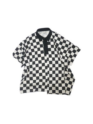 <img class='new_mark_img1' src='https://img.shop-pro.jp/img/new/icons16.gif' style='border:none;display:inline;margin:0px;padding:0px;width:auto;' />[40%OFF] JieDa CHECKERED RUGBY SHIRT (NAT)