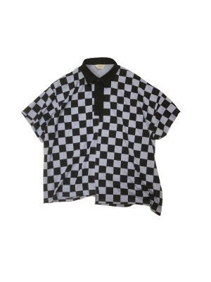 <img class='new_mark_img1' src='https://img.shop-pro.jp/img/new/icons16.gif' style='border:none;display:inline;margin:0px;padding:0px;width:auto;' />[40%OFF] JieDa CHECKERED RUGBY SHIRT (LAV)