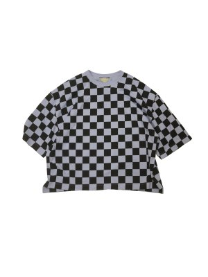 <img class='new_mark_img1' src='https://img.shop-pro.jp/img/new/icons16.gif' style='border:none;display:inline;margin:0px;padding:0px;width:auto;' />[40%OFF] JieDa CHECKERED OVER T-SHIRT (LAV)