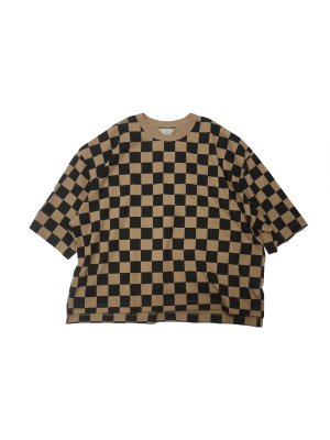 <img class='new_mark_img1' src='https://img.shop-pro.jp/img/new/icons16.gif' style='border:none;display:inline;margin:0px;padding:0px;width:auto;' />[20%OFF] JieDa CHECKERED OVER T-SHIRT (CAM)