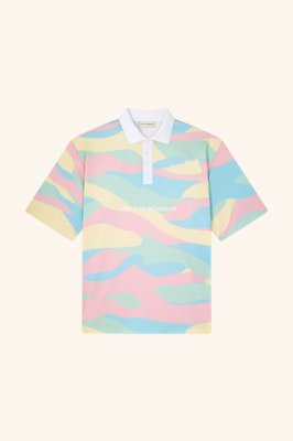 <img class='new_mark_img1' src='//img.shop-pro.jp/img/new/icons14.gif' style='border:none;display:inline;margin:0px;padding:0px;width:auto;' /> DROLE DE MONSIEUR  Mesh 'lce Cream ' Polo-shirt