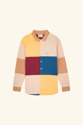 <img class='new_mark_img1' src='//img.shop-pro.jp/img/new/icons14.gif' style='border:none;display:inline;margin:0px;padding:0px;width:auto;' /> DROLE DE MONSIEUR   Fleece Color Block Shirt