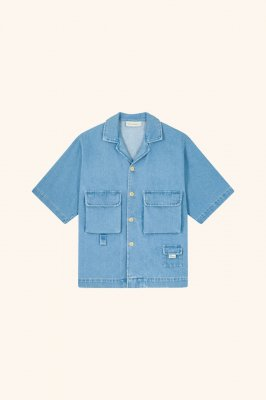 <img class='new_mark_img1' src='https://img.shop-pro.jp/img/new/icons16.gif' style='border:none;display:inline;margin:0px;padding:0px;width:auto;' />[40%OFF] DROLE DE MONSIEUR     Denim Utility Shirt
