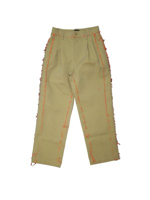 <img class='new_mark_img1' src='//img.shop-pro.jp/img/new/icons14.gif' style='border:none;display:inline;margin:0px;padding:0px;width:auto;' />Feng Chen Wang TROUSERS POLYCOTTON OLIVE GREY / FLURO ORANGE