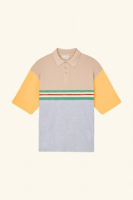 <img class='new_mark_img1' src='https://img.shop-pro.jp/img/new/icons14.gif' style='border:none;display:inline;margin:0px;padding:0px;width:auto;' /> DROLE DE MONSIEUR   Paneled Polo Shirt