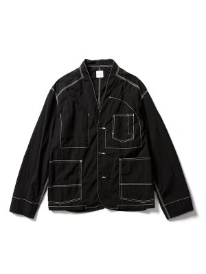 <img class='new_mark_img1' src='https://img.shop-pro.jp/img/new/icons14.gif' style='border:none;display:inline;margin:0px;padding:0px;width:auto;' />Sasquatchfabrix. NYLON  WA-NECK JACKET (BLK)