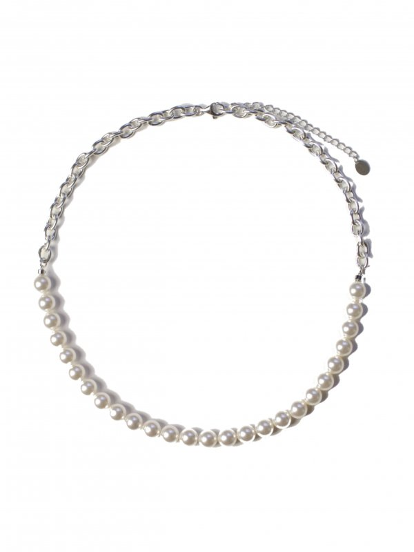 EPHEMERAL switching pearl necklace (8mm)