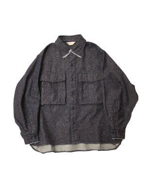 <img class='new_mark_img1' src='https://img.shop-pro.jp/img/new/icons14.gif' style='border:none;display:inline;margin:0px;padding:0px;width:auto;' />JieDa SILK DENIM OVER SHIRT
