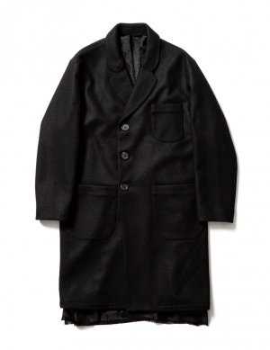 <img class='new_mark_img1' src='https://img.shop-pro.jp/img/new/icons14.gif' style='border:none;display:inline;margin:0px;padding:0px;width:auto;' />Sasquatchfabrix. GOWN COAT (BLK)