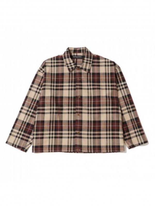 Diaspora skateboards Flannel Coach Shirt