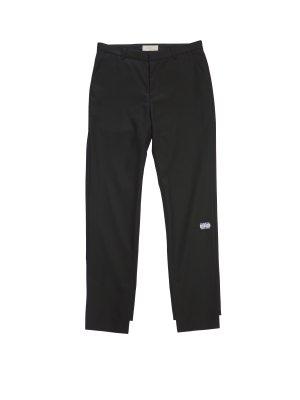 JieDa SLIT SLIM FLARE PANTS (BLK)